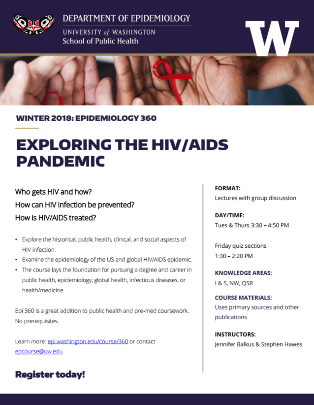 Winter Course: Exploring the HIV/AIDS Pandemic | Department