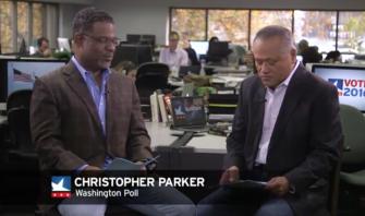 Professor Christopher Parker with Enrique Cerna