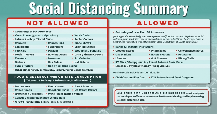Social Distancing Summary Infographic