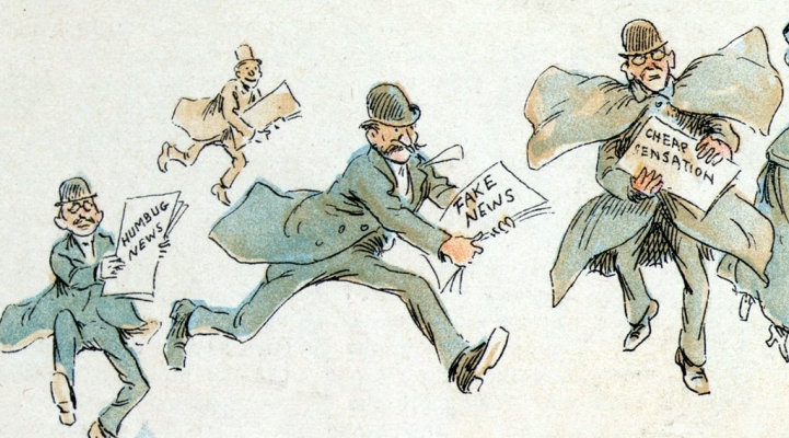 """Fake News"" (Political Cartoon, 1895)"
