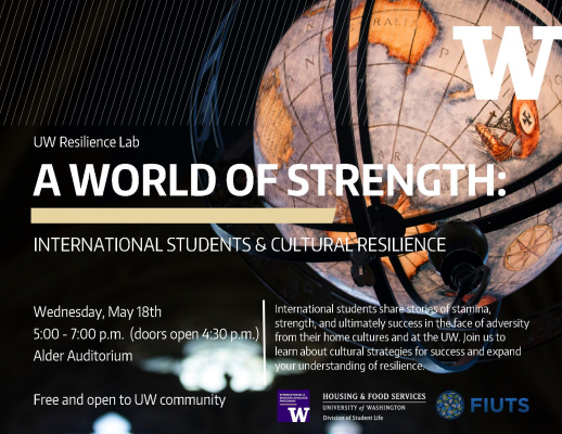 UW Resilience Lab: A World of Strength - Flyer
