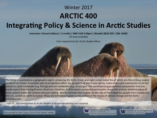 ARCTIC 400 - Integrating Policy and Science in Arctic Studies