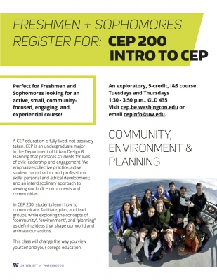 CEP 200: Introduction to Community, Environment, and