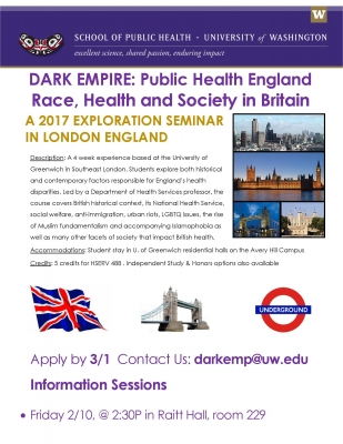 Dark Empire Info Session Flyer