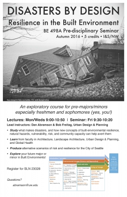 Disasters by Design - Resilience in the Built Environment - Course Flyer
