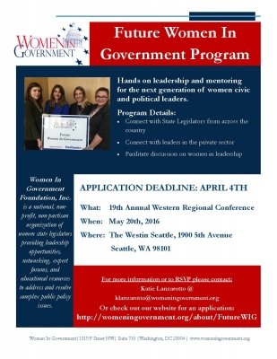 Future Women in Government Flyer