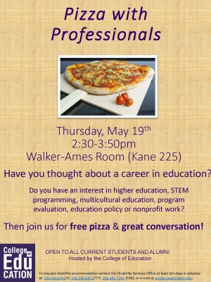 Pizza with Professionals - Flyer