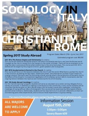 Study Abroad | Sociology