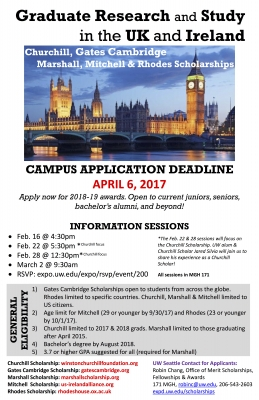 University Of Washington Scholarships >> Uk Ireland Scholarships For Graduate Study Research