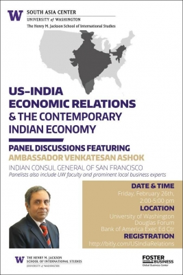 US-India Economic Relations Panel Discussion flyer