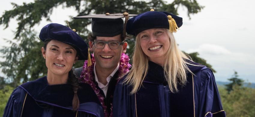 PhDs Crystal Pryor, Aaron Erlich, and Kiku Huckle