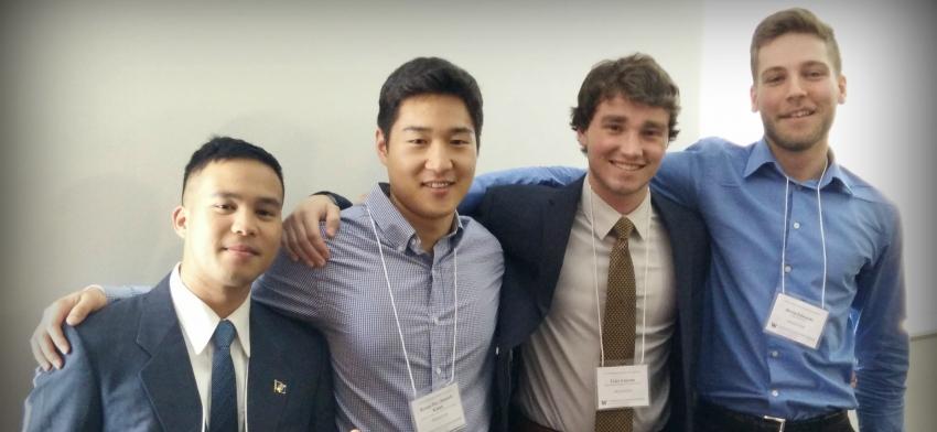 Peter (Paul) Camacho, Byung-Hee (Daniel) Keum, Tyler Lincoln, and Devin Edwards