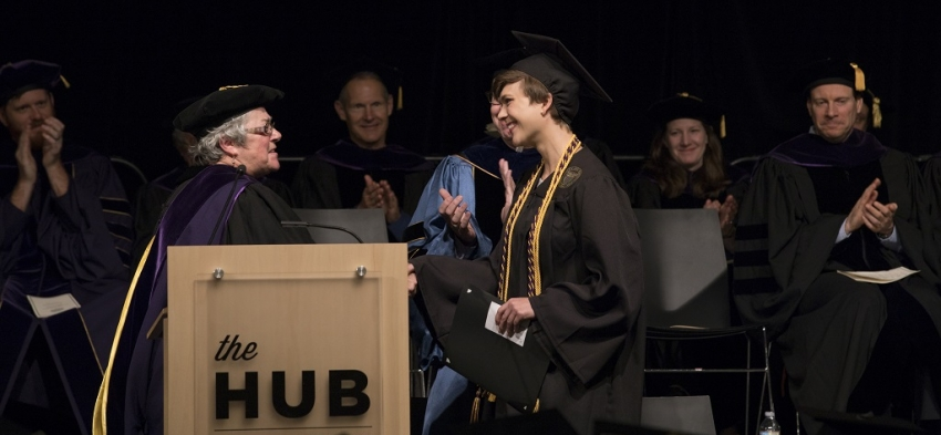 Professor Christine DiStefano and award winner Anna Mikkelborg