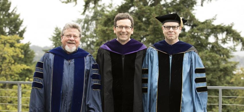 Alumni Award Winner Bob Ferguson with Faculty