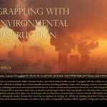 CHID 480A - Grappling with Environmental Destruction