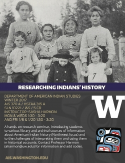 AES 370: Researching Indians' History - Course Flyer