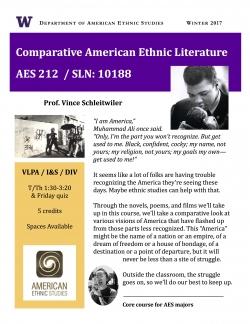 AES 212 - WIN 2017 - Comparative American Ethnic Literature