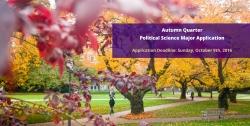 Autumn 2016 - Major Application Deadline - October 9