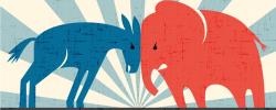 DonkeyVsElephant_Political Party image