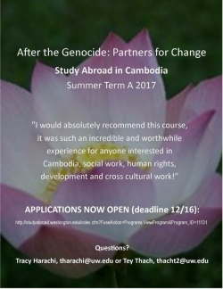 Cambodia Study Abroad Flyer