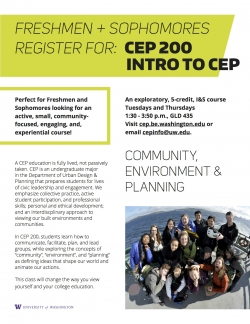 CEP 200: Introduction to Community, Environment, and Planning Flyer
