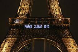 """""""Paris Climate 2015"""" - Eiffel Tower"""