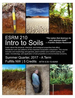 ESRM 210 Intro to Soil Flyer