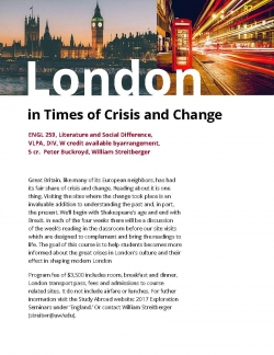 London in Times of Crisis and Change - Exploration Seminar