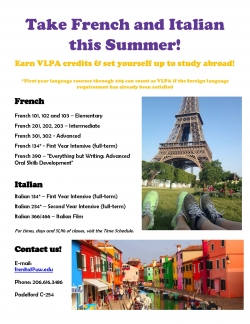French and Italian Studies - Summer Courses 2017
