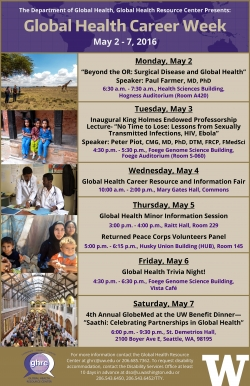 Global Health Career Week Program Flyer