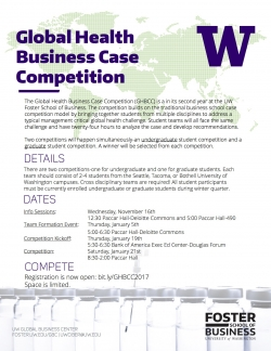 Global Health Business Case Competition One Page Flyer 2017