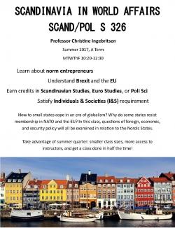Scandinavia in World Affairs - SCAN/POLS 326