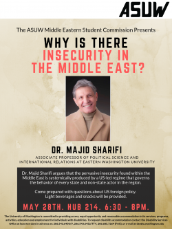 Insecurity in the Middle East