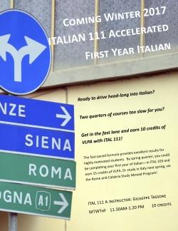 Italian 111 - Course Flyer
