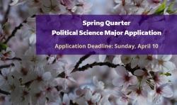 Political Science Major Application - Spring 2016