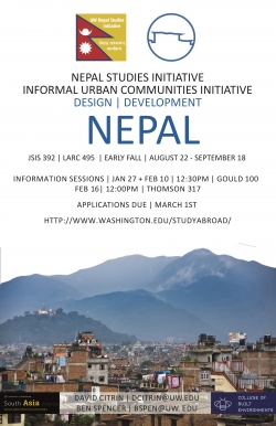 Nepal Study Abroad Program Flyer 2017