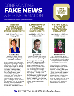 Fake News and Misinformation Lecture