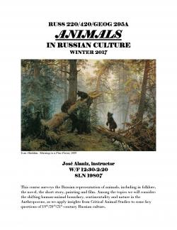 RUSS 220/420 / GEOG 295A: Animals in Russian Culture