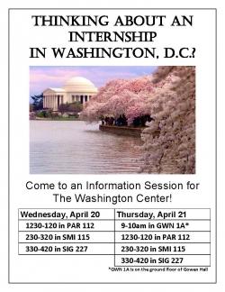 Washington Center Internship Program Information Session