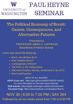 Flier of event on brexit