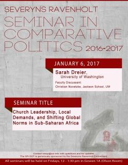 Severyns Ravenholt Seminar in Comparative Politics: Sarah Dreier