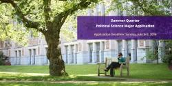 Summer 2016 Political Science Major Application Deadline Graphic