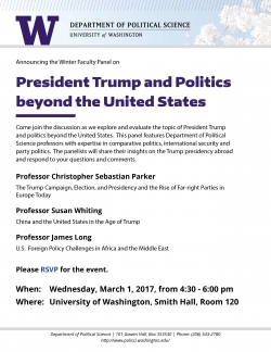 Winter 2017 Faculty Panel: Trump & Politics beyond the United States