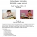 EDCI 460A Early Literacy Instruction Flyer