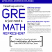 GRE/Basic Math Refresher Courses Flyer