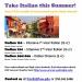 Italian Course Summer 2017