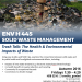 ENV H 445 Solid Waste Management: The Health and Environmental Impact of Waste